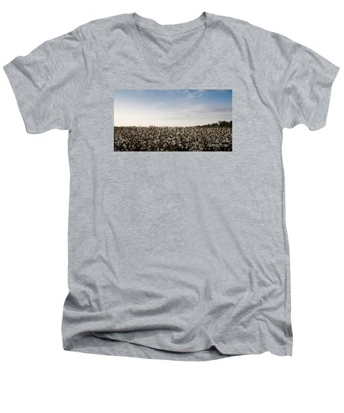 Cotton Field 2 Men's V-Neck T-Shirt
