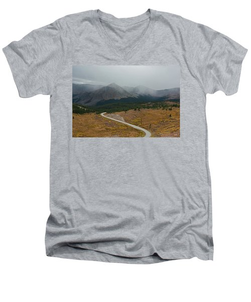 Men's V-Neck T-Shirt featuring the photograph Cottonwood Pass #1 by Dana Sohr