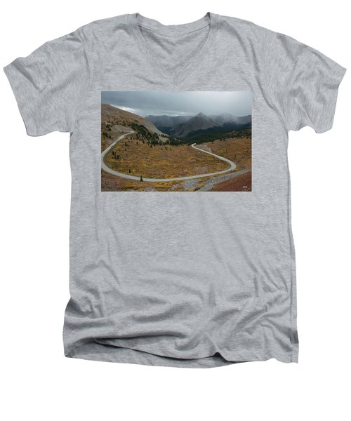 Men's V-Neck T-Shirt featuring the photograph Cottonwood Pass #2 by Dana Sohr