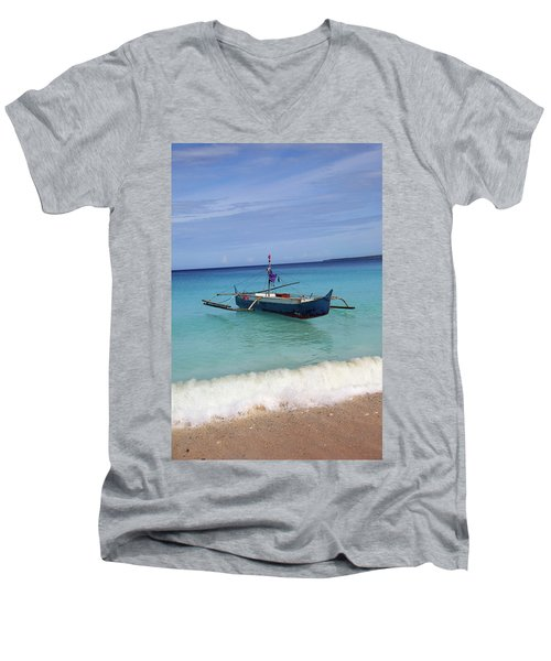 could I feel a thing Men's V-Neck T-Shirt by Jez C Self
