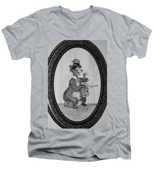 Country Bear Men's V-Neck T-Shirt by Rob Hans