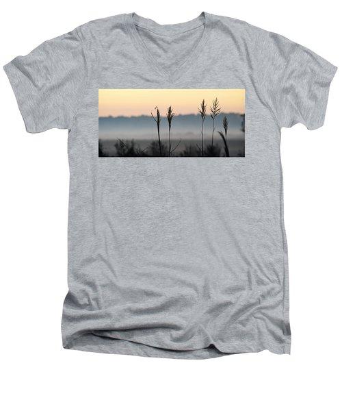 Hayseed Johnny Men's V-Neck T-Shirt by John Glass