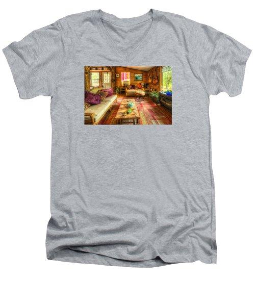 Country Cabin Men's V-Neck T-Shirt