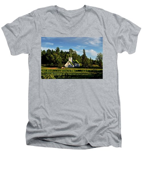 Country Church 003 Men's V-Neck T-Shirt