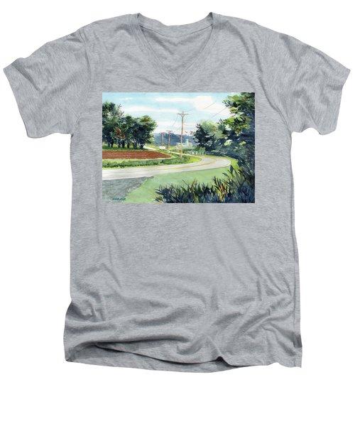 Country Corner Men's V-Neck T-Shirt