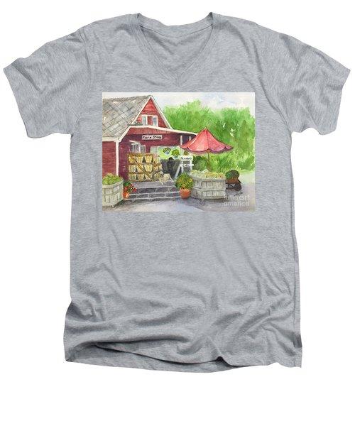 Country Farmer's Market Men's V-Neck T-Shirt