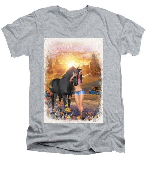 Country Memories 2 Men's V-Neck T-Shirt