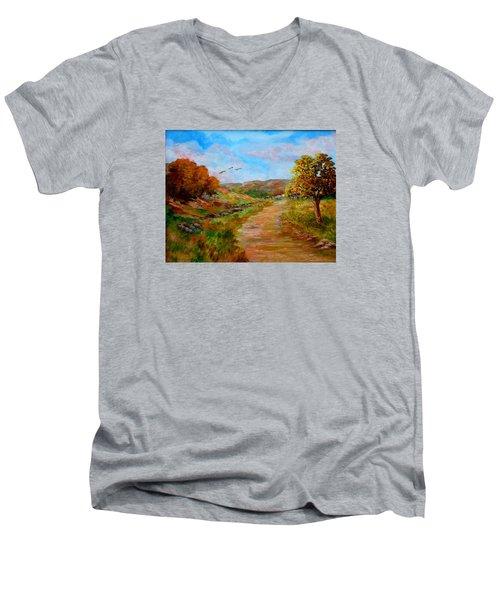 Country Road 2 Men's V-Neck T-Shirt