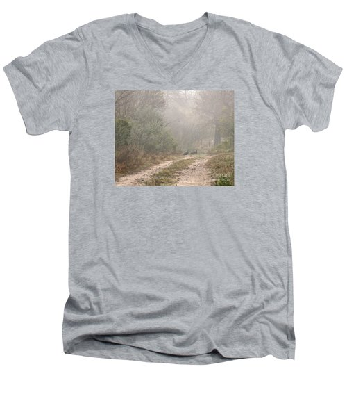 Country Road In The Morning Men's V-Neck T-Shirt