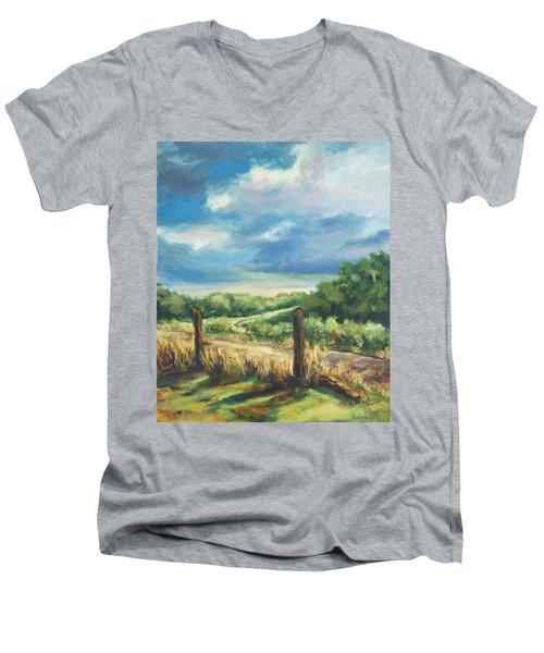 Country Road Men's V-Neck T-Shirt by Rick Nederlof
