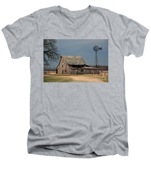 Country Roof Collapse Men's V-Neck T-Shirt