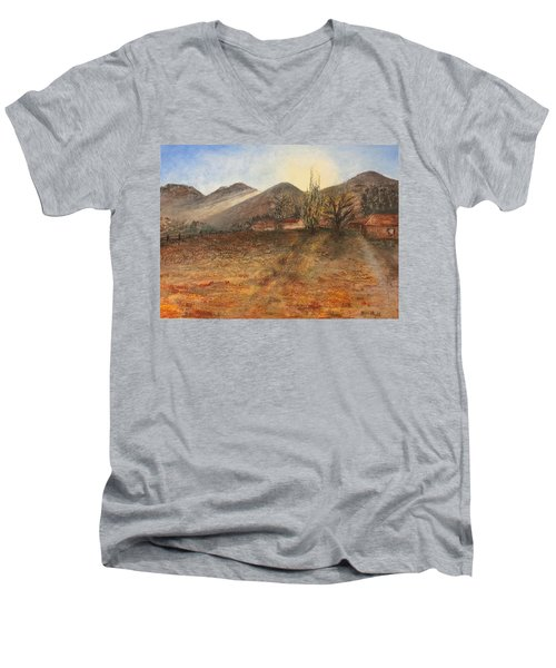 Country Sunset Men's V-Neck T-Shirt