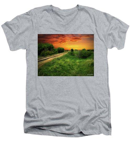 Country Tracks 2 Men's V-Neck T-Shirt