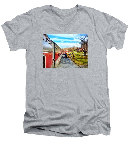 Country Train Depot Men's V-Neck T-Shirt