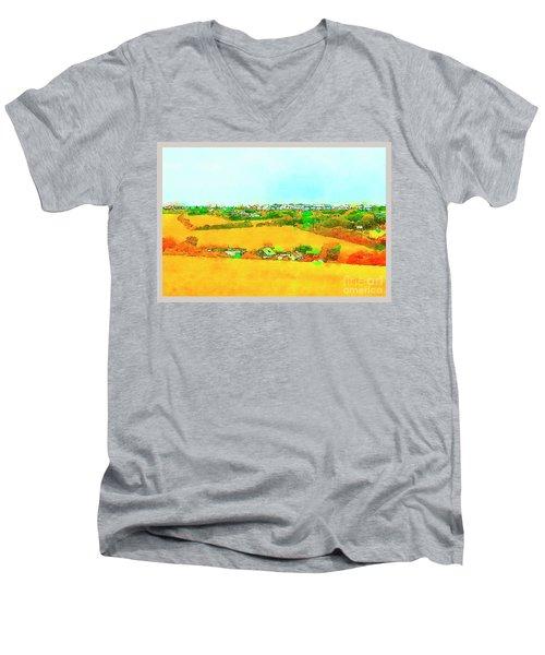 countryside  in Cornwall, UK Men's V-Neck T-Shirt