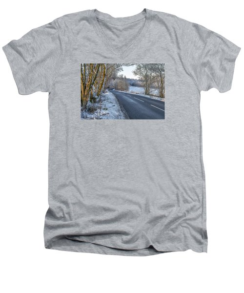 Countryside Road In Central Scotland Men's V-Neck T-Shirt