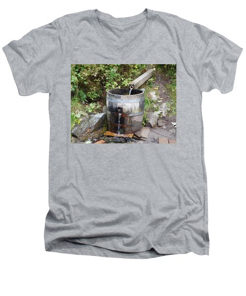 Countryside Water Feature Men's V-Neck T-Shirt by Catherine Gagne