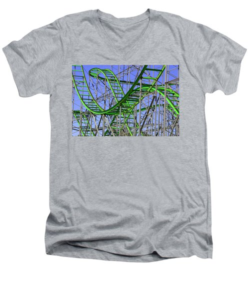 County Fair Thrill Ride Men's V-Neck T-Shirt