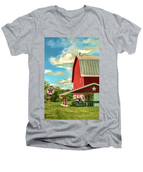 County G Classic Station Men's V-Neck T-Shirt by Trey Foerster