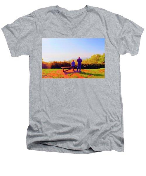 Couple Views Men's V-Neck T-Shirt by Jan W Faul
