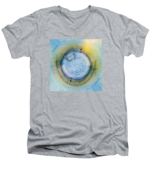 Courage To Lose Sight Of The Shore Orb Mini World Men's V-Neck T-Shirt