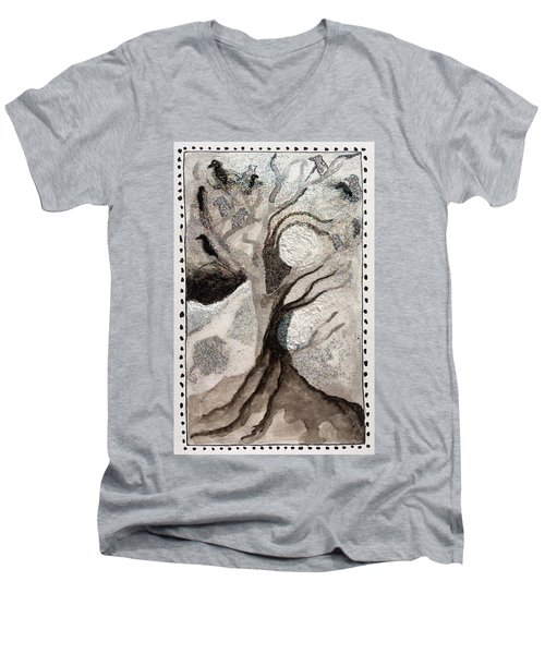 Courage To Stay In Winter Men's V-Neck T-Shirt