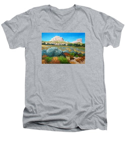 Courthouse And Jail Rocks 2 Men's V-Neck T-Shirt