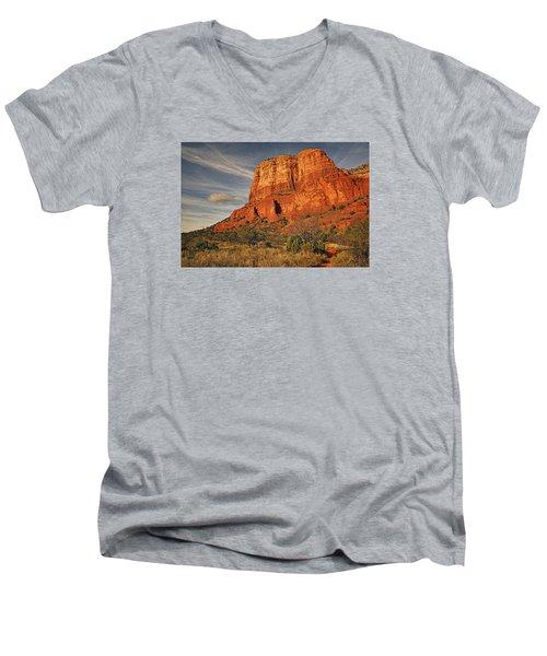 Courthouse Butte Txt Men's V-Neck T-Shirt