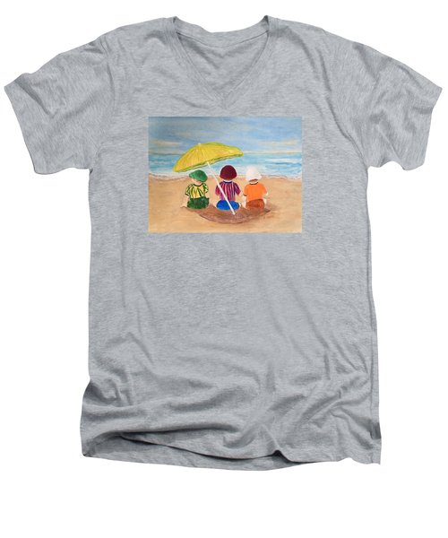 Cousins At The Beach Men's V-Neck T-Shirt