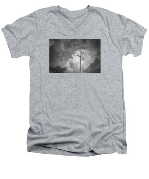 Cover Twice Men's V-Neck T-Shirt by Mark Ross