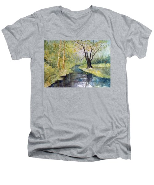 Covered Bridge Park Men's V-Neck T-Shirt