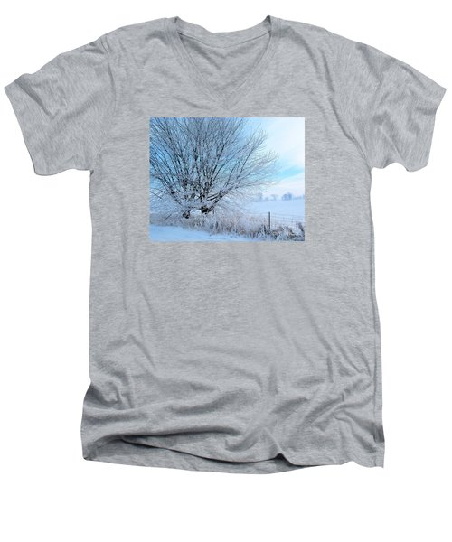 Covered In Ice Men's V-Neck T-Shirt by Heather King