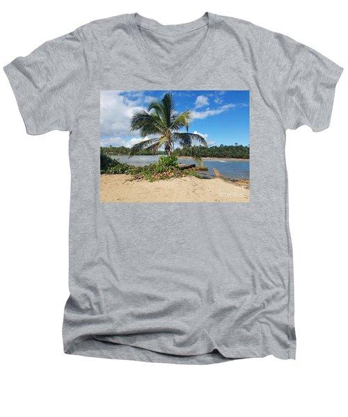 Covered Palm Beach Men's V-Neck T-Shirt