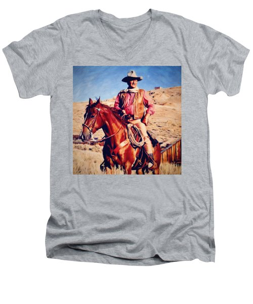 Cowboy John Wayne Men's V-Neck T-Shirt