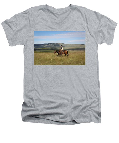 Cowboy Landscapes Men's V-Neck T-Shirt