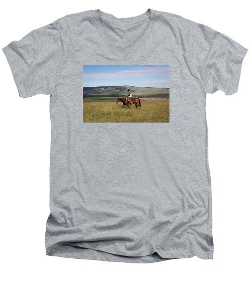 Cowboy Landscapes Men's V-Neck T-Shirt