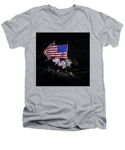 Cowboy Patriots Men's V-Neck T-Shirt by Ron White