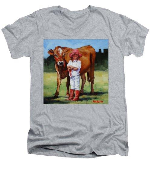 Cowgirl Besties Men's V-Neck T-Shirt