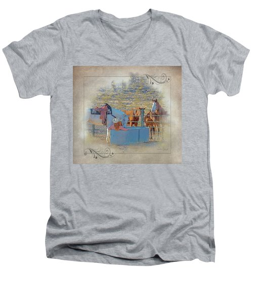 Cowgirl Spa 5p Of 6 Men's V-Neck T-Shirt