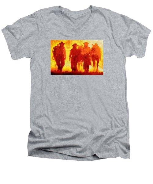 Cowpeople Men's V-Neck T-Shirt