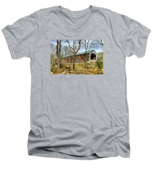 Cox Ford Covered Bridge Men's V-Neck T-Shirt