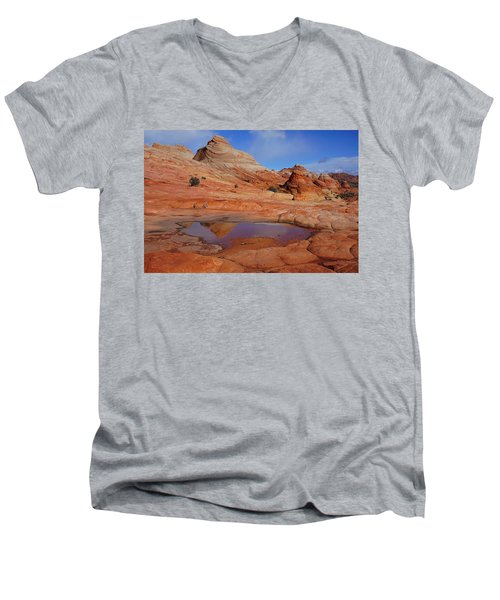 Coyote Butte Reflection Men's V-Neck T-Shirt