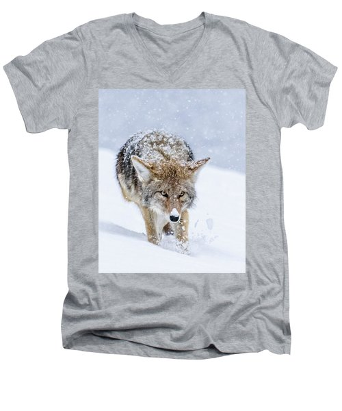 Coyote Coming Through Men's V-Neck T-Shirt