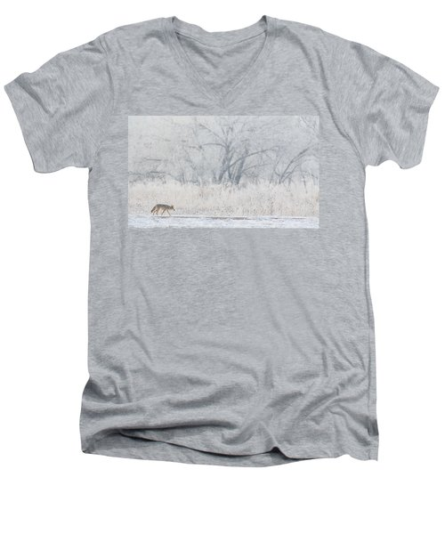 Coyote On The Hunt Men's V-Neck T-Shirt