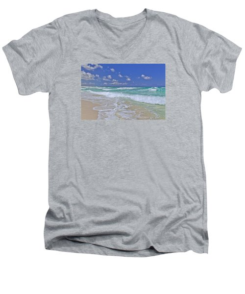 Cozumel Paradise Men's V-Neck T-Shirt by Chad Dutson