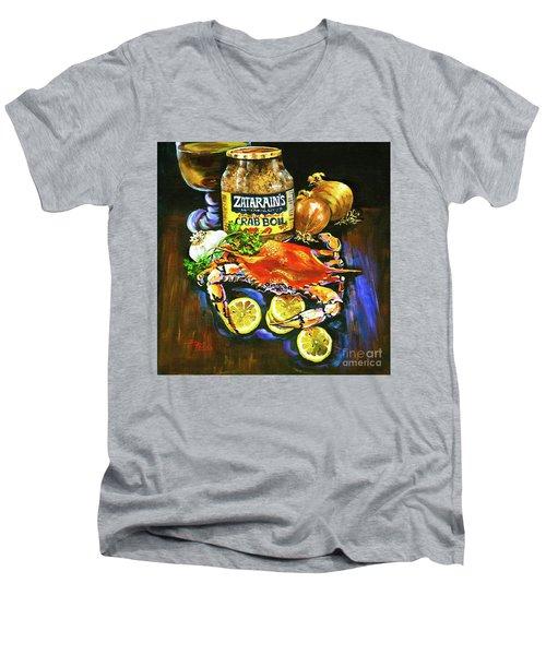 Crab Fixin's Men's V-Neck T-Shirt
