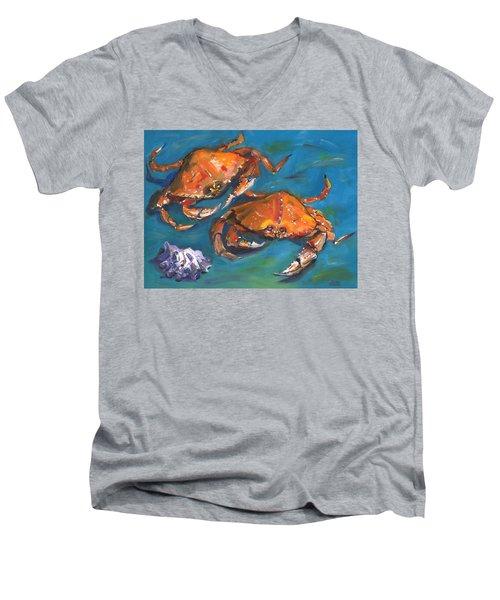 Crabs Men's V-Neck T-Shirt by Susan Thomas