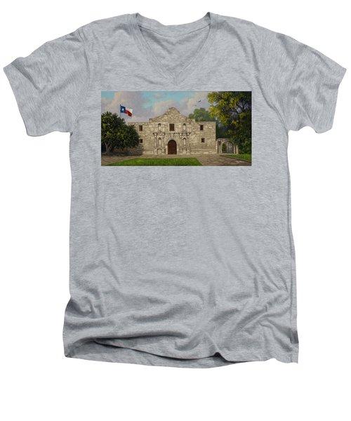 Cradle Of Texas Liberty Men's V-Neck T-Shirt