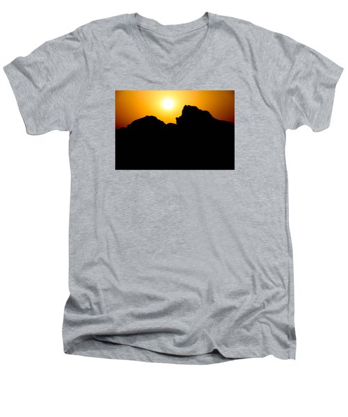 Men's V-Neck T-Shirt featuring the photograph Cradle Your Departing by Jez C Self
