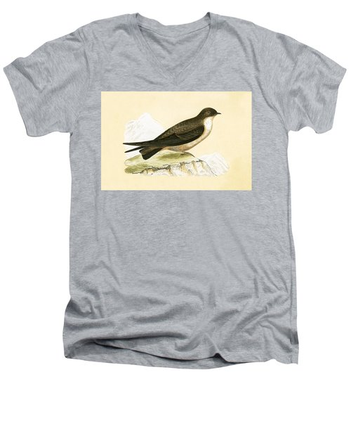 Crag Swallow Men's V-Neck T-Shirt by English School